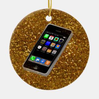 cellphone bling christmas ornament