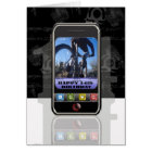 Cellphone, mobile phone text message Happy Birthda Card