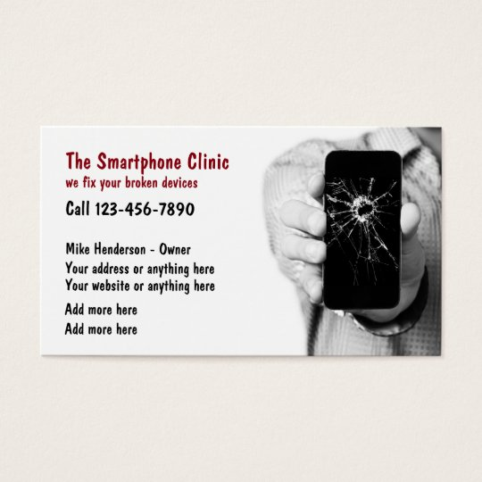 Cellphone Repair Services Business Card
