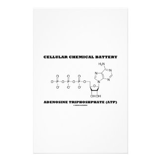 Cellular Chemical Battery Adenosine Triphosphate Personalized Stationery