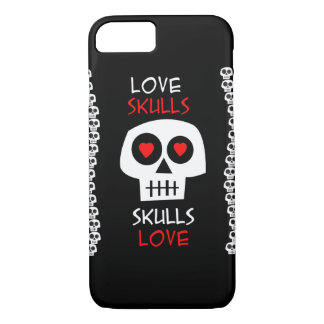 Cellular layer iPhone 7 Skulls Love iPhone 7 Case