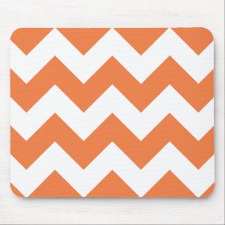 Celosia Orange Chevron Zigzag Mouse Pad
