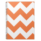 Celosia Orange Chevron Zigzag Notepad Notebook