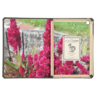Celosia Red Rustic Fence Garden iPad Air Covers