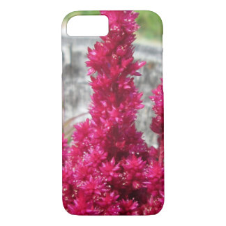 Celosia Red Rustic Fence Garden iPhone 7 Case