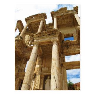 Celsius Library, famous  Roman building - Ephesus Postcard