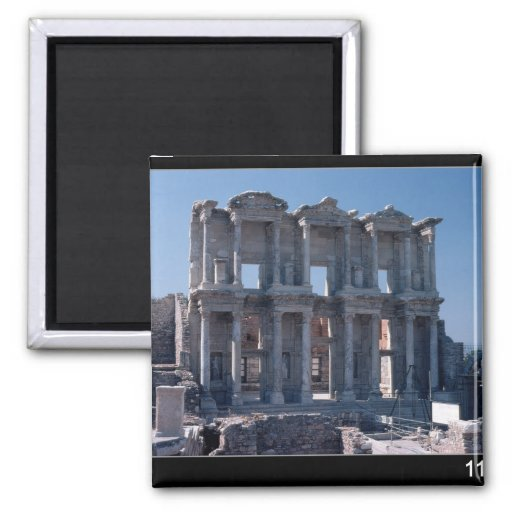 Celsus Library, built in AD 135 Refrigerator Magnet