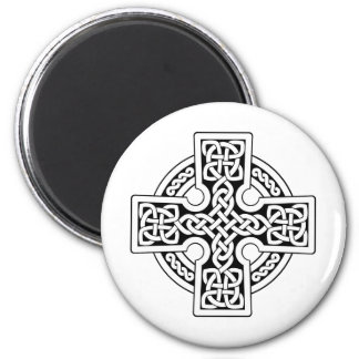 Celtic 4 way black and white 6 cm round magnet