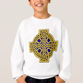 Celtic 4 way gold and blue sweatshirt