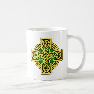 Celtic 4 way gold and green coffee mug