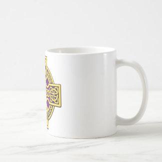 Celtic 4 way gold and purple coffee mug