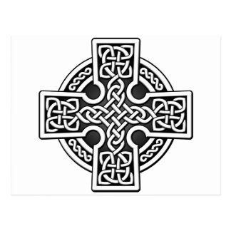 Celtic 4 way silver and grey postcard