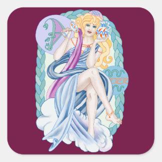 Celtic Aquarius Square Sticker