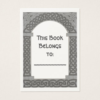 Celtic Archway bookplate Business Card