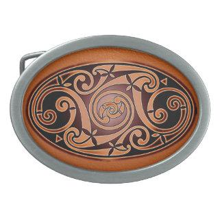 Celtic Art Design Oval Belt Buckle