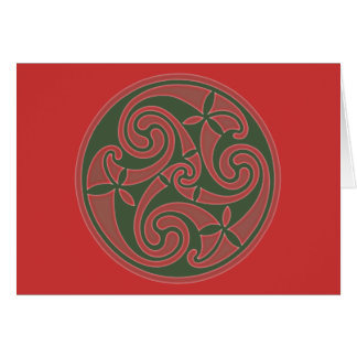 Celtic Art Spiral Design Card