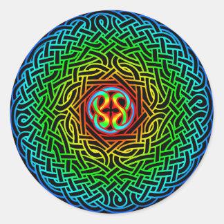 Celtic Artemus Knot Round Sticker