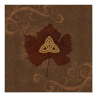 Celtic Autumn 13 Cm X 13 Cm Square Invitation Card