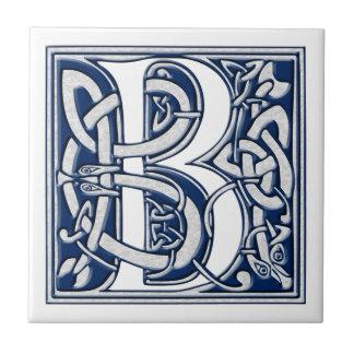 Celtic B Monogram Small Square Tile