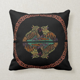 Celtic Beasts Throw Pillow