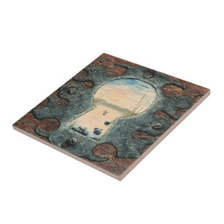 Celtic Beauty by Fine Artist Alison Galvan Small Square Tile