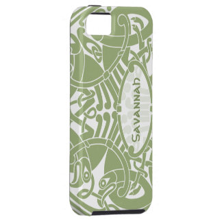 Celtic Bird Circle Pattern Personalized iPhone iPhone 5 Covers