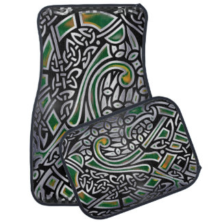 Celtic Birds 3D Foil Car Mat
