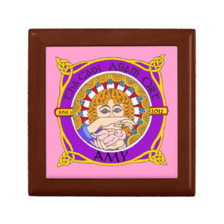 Celtic Birth Blessings Keepsake Trinket Box