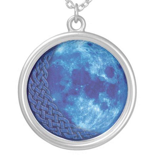 Celtic Blue Moon Pendant Necklace