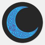 Celtic Blue Moon Round Sticker