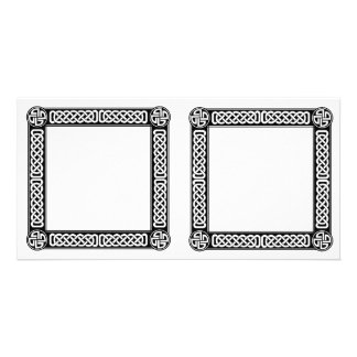 Celtic border on any color picture card