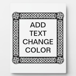 Celtic border on any color plaque