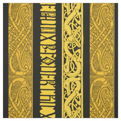 Celtic Borders in Gold Fabric