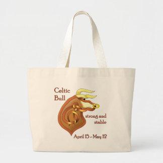 Celtic Bull Large Tote Bag