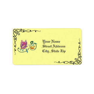 Celtic Butterfly & Vine Address Labels