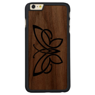 celtic butterfly walnut slim case iphone 6 carved® walnut iPhone 6 plus slim case