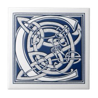 Celtic C Monogram Small Square Tile