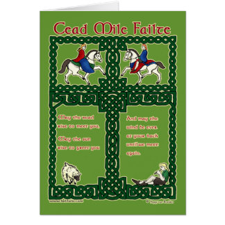 Celtic Card, Cead Mile Failte #3 Greeting Card