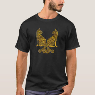 celtic cats 6 bronze gold T-Shirt