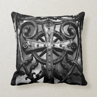 Celtic cemetery cross cushion
