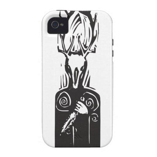 Celtic Cernunnos Vibe iPhone 4 Cases