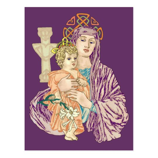 Celtic Christmas Madonna Postcard