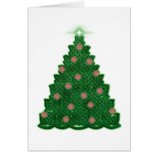 Celtic Christmas Tree Greeting Card
