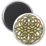 Celtic circle 6 cm round magnet