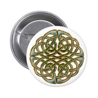Celtic circle 6 cm round badge