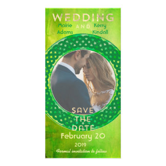 Celtic Circle Save the Date Photo Card