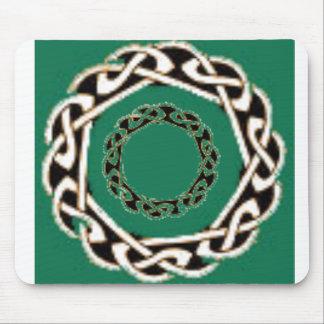 Celtic circles mouse mat