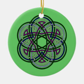 celtic cirlce Double-Sided ceramic round christmas ornament