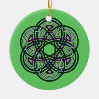 celtic cirlce round ceramic decoration