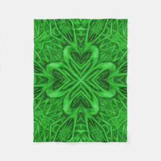 Celtic Clover Custom Fleece Blanket, Small
